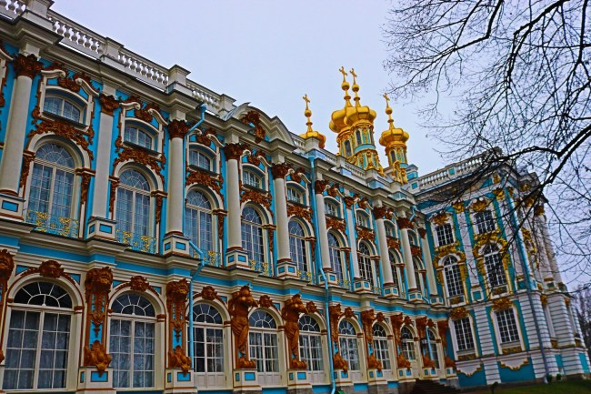 The Catherine Palace in Pushkin near St Petersburg, Russia