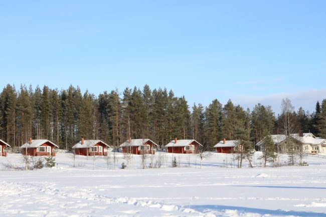 Swedish countryside in winter