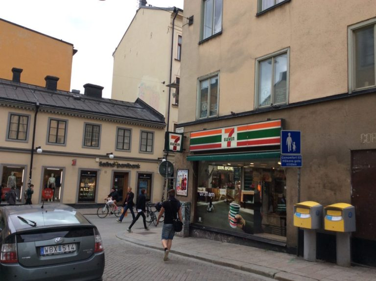 """The 7-Eleven where Lisbeth goes shopping is located in an area of Stockholm which has the highest """"hipster density"""""""