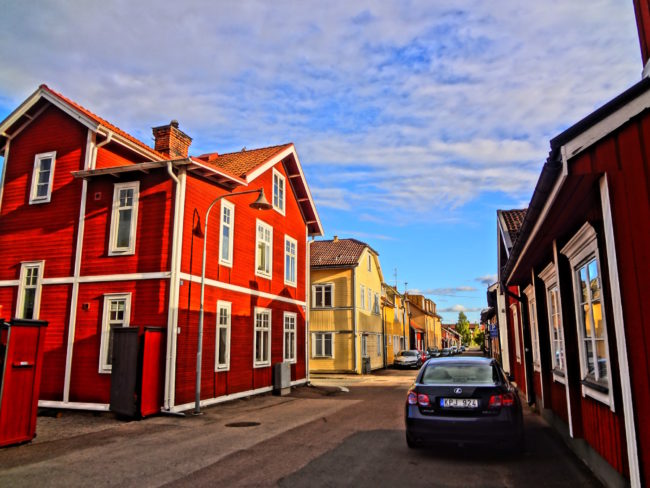 Typical houses in Falun, Dalana, Sweden