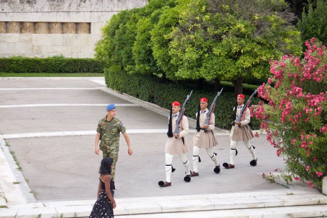 Changing of the guards in Athens, Greece