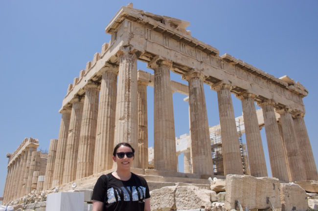 At the Acropolis in Athens, Greece