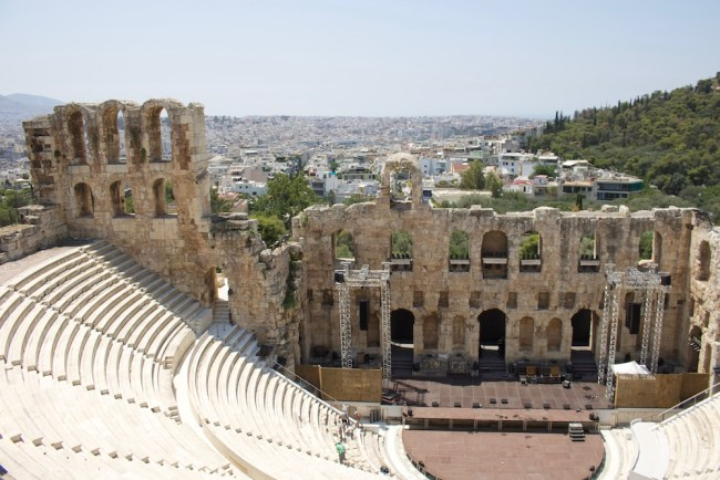 ... and a spectator's arena that is still used for concerts