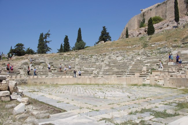 The Acropolis complex also includes an ancient theatre...