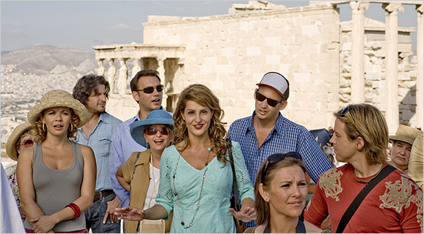 """In the film""""My Life in Ruins"""" (2009),Nia Vardalosplays a Greek Tour Guide who tries to get her tourist group to take an interest in Greek history at the Acropolis. Photo: © Fox Searchlight"""