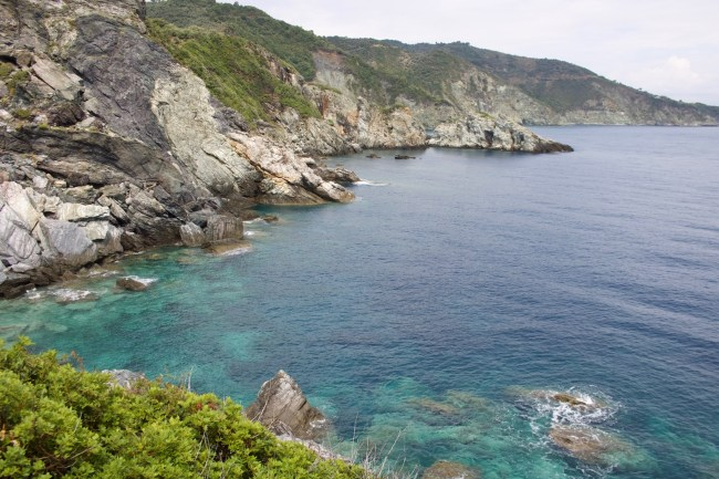 View from the wedding chapel rock Kastani Beach on the Mamma Mia! Tour on the island of Skopelos
