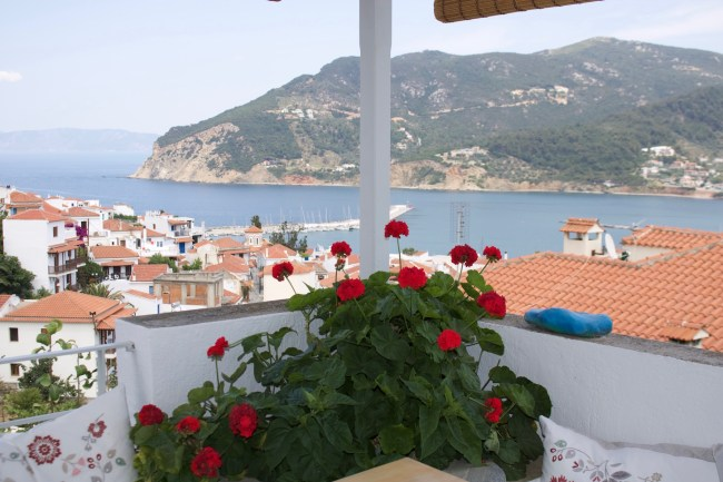 My hotel in Skopelos Town