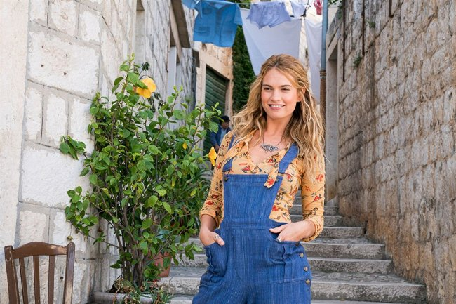 "Lily James in ""Mamma Mia! 2 Here We Go Again"" © 2018 Universal Pictures"