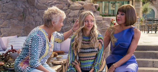 """Sophie with her mum's two best friends in """"Mamma Mia! 2 Here We Go Again"""" © 2018 Universal Pictures"""