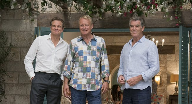 """Sophie's three possible dads in """"Mamma Mia! 2 Here We Go Again"""" © 2018 Universal Pictures"""