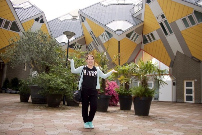 Cube houses in Rotterdam. Photo: © Sonja Irani / FilmFanTravel.com
