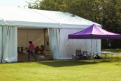 The big tent! JRF fun day.
