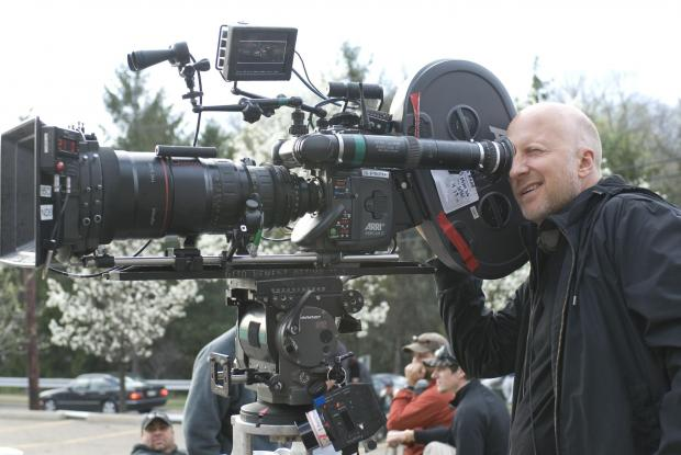 Director John Hilcoat at work on Triple Nine