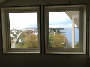 Utsikt fra Vanghuset.