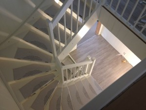Stairs seen from the attic