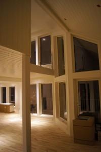 Litt annen vinkel mot vindusrekka fra kjøkken.