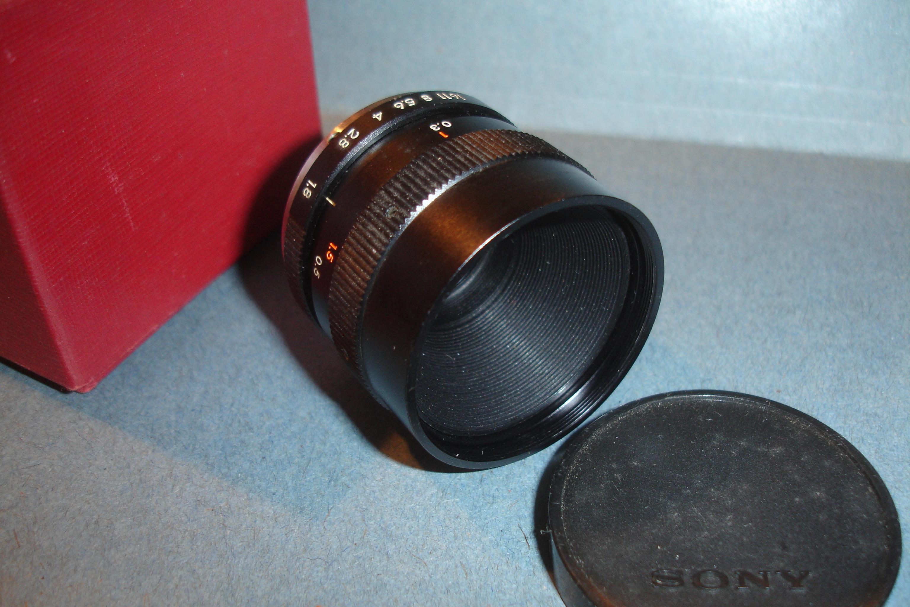 Sony TV 16mm f1 8 c-mount