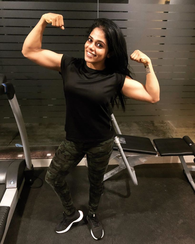 Sreeya Iyer, Anchor turns woman physique the Muscle girl from Kerala 19
