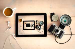 A picture of a camera, within a camera, within a camera...