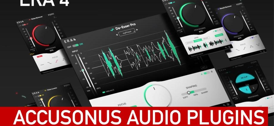 Accusonus 4 Audio Plugins for Davinci Resolve,Premiere