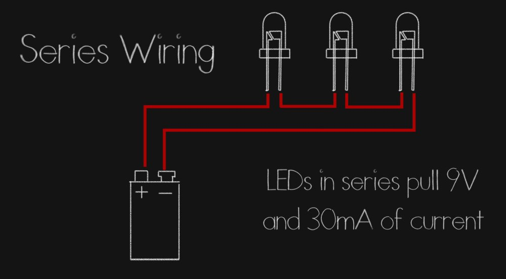 medium resolution of we can even mix and match leds that have the same current draws but different voltages say take a green and blue rated for between 3 and 3 3 and wire it