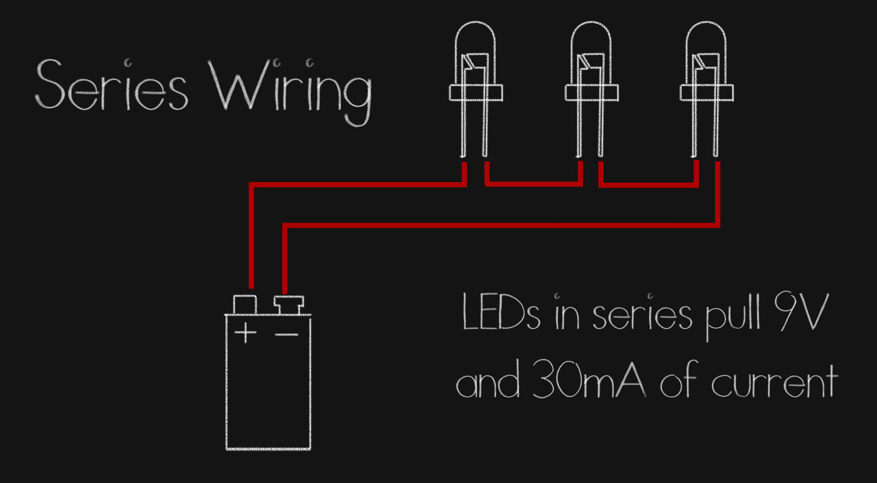 hight resolution of we can even mix and match leds that have the same current draws but different voltages say take a green and blue rated for between 3 and 3 3 and wire it