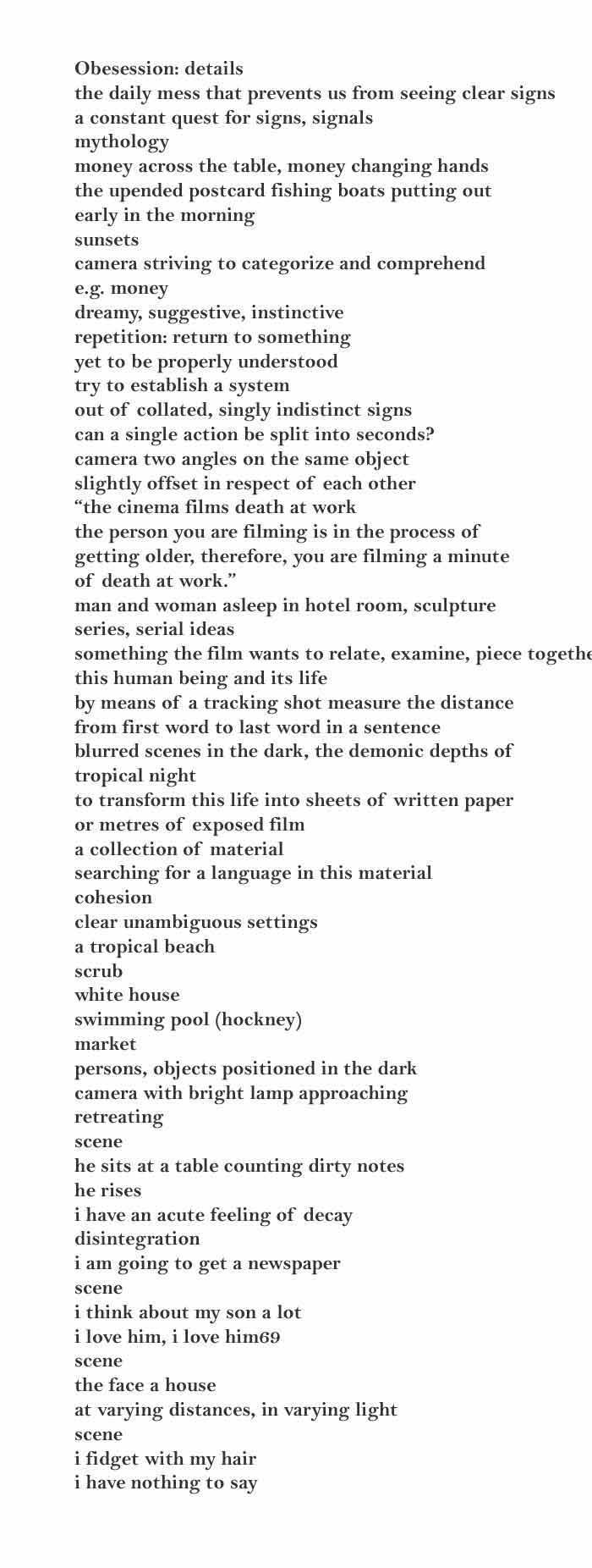 Video Excerpt  Jørgen Leth: I Write What I see