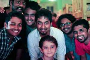 In Pics: Abhinav Sunder Nayak along with filmmaker Vineeth Sreenivasan and other crews, while he worked for the film 'Thira'