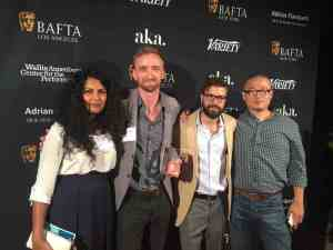 Anisha (Far Left), Michael Steiner, Henry Hughes and Kee Kyung At BAFTA