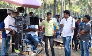 At the sets of pathemari
