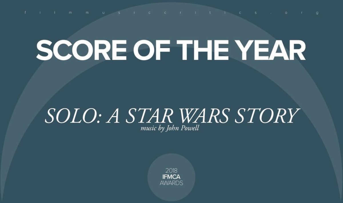 John Powell receives IFMCA Awards for Solo: A Star Wars