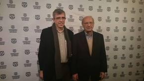 Pere Portabella (esquerra) i Esteve Riambau al International Film Festival de Rotterdam