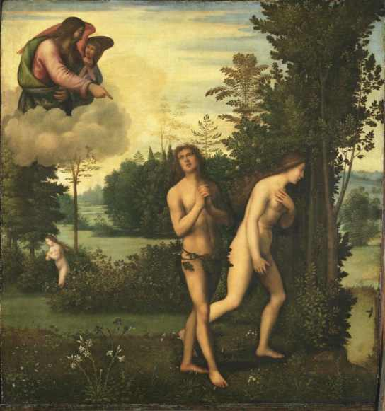 God admonishes Adam and Eve