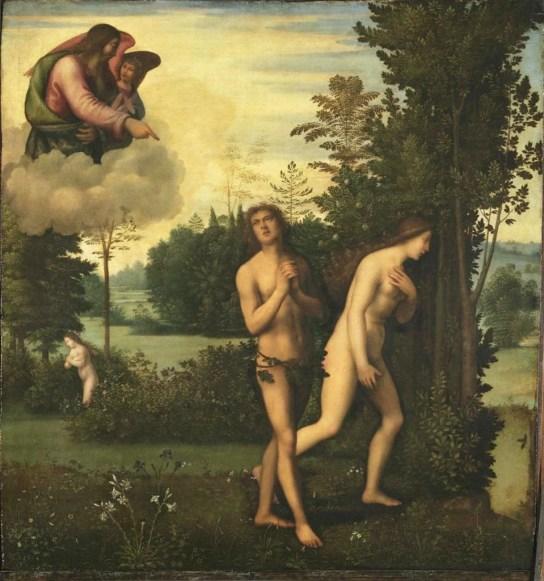 God admonishes Adam and Eve