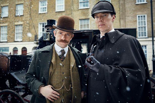 Sherlock and Watson on Baker Street