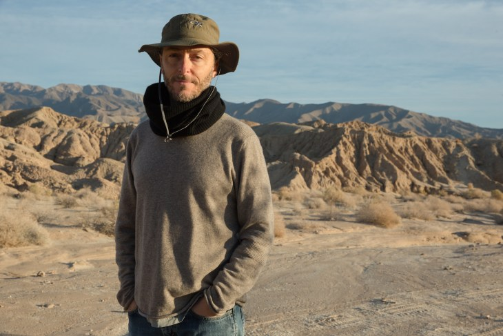 "Three time Oscar Winner Emmanuel Lubezki on the set of ""Last Days in the Desert."""