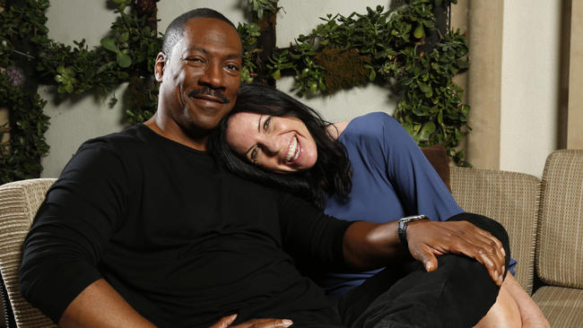 Susan McMartin with her on-screen Mr. Church, Eddie Murphy.