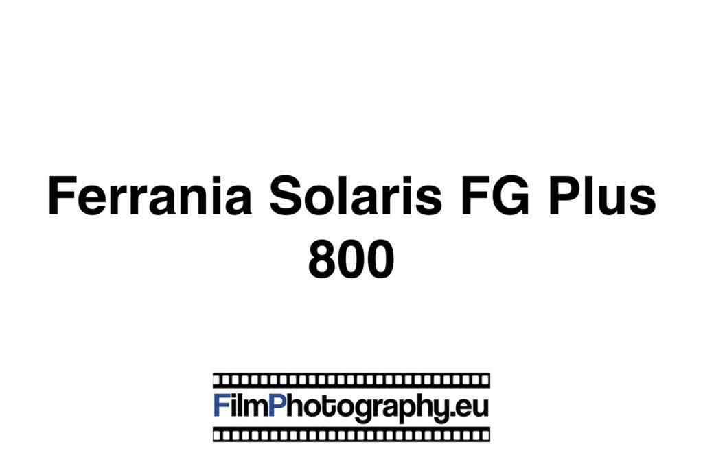 Ferrania Solaris FG Plus 800