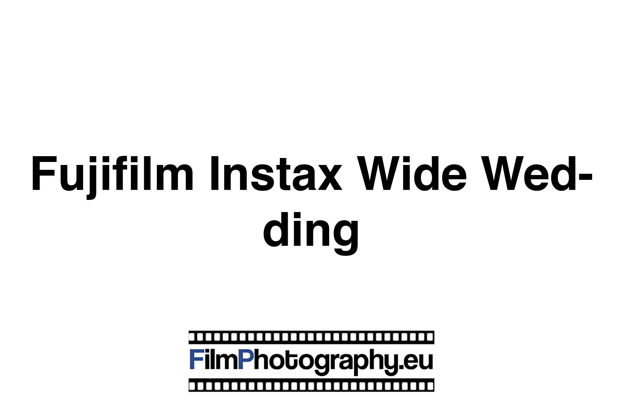 Fujifilm Instax Wide Wedding Sofortbildfilm