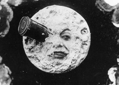 Image result for moon with rocket in eye