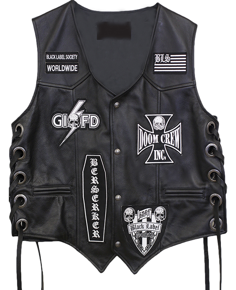 Black Label Patch : black, label, patch, Black, Label, Society, Leather, Patches, Films, Jackets