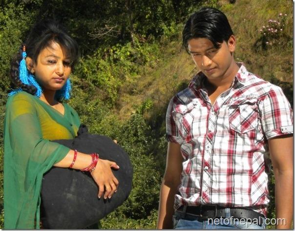 jharana thapa in dhukuti shooting