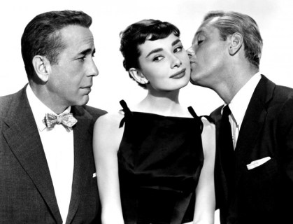 "Humphrey Bogart, Audrey Hepburn and William Holden, publicity still ""Sabrina"" (1954). Picture: Marvin Paige Motion Picture and Television Archive"