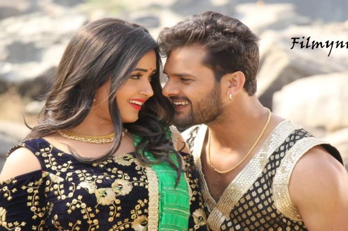 Bhojpuri Actor Khesarilal and Kajal Raghwani in Litti Chokha-Filmynism