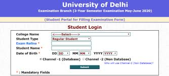 Students Face Discrepancies While Filling the DU Examination Form