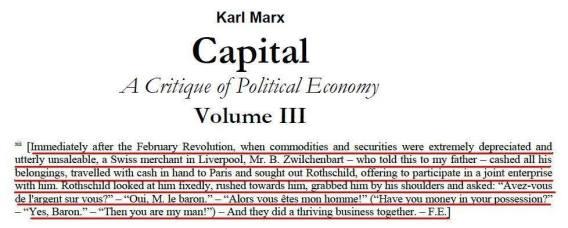 Γιατί ὁ Marx ΔΕΝ ...«γνώριζε» τόν Rothschild;2