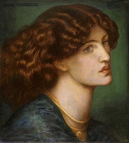 "Dante Gabriel Rossetti, ""Retrato de Bruna Brunelleschi (1878)"