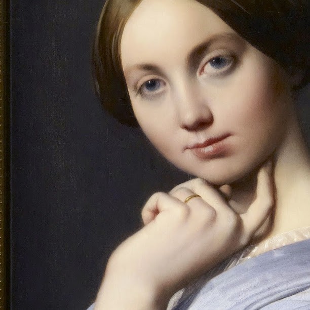 "Jean-August Dominique Ingres ""Condessa d'Haussonville, detalhe"" (1845)"