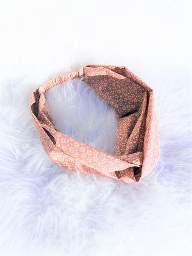 bandeau pour cheveux rose pastel fleurs myosotis