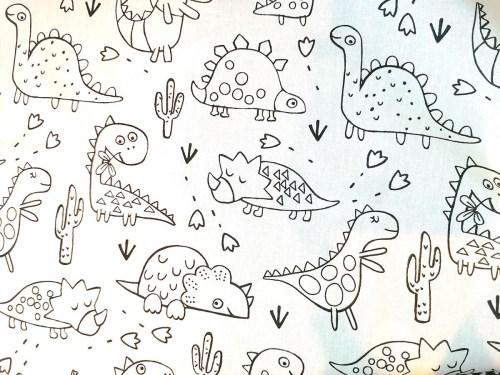 Motif Dinosaures pour le livre à colorier